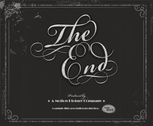 Vintage movie The End screen design template